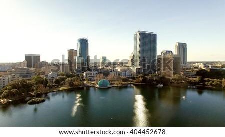Orlando skyline. - stock photo