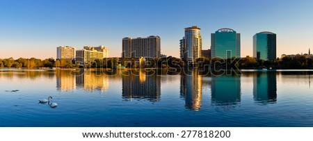 Orlando Skyline in Summer - stock photo