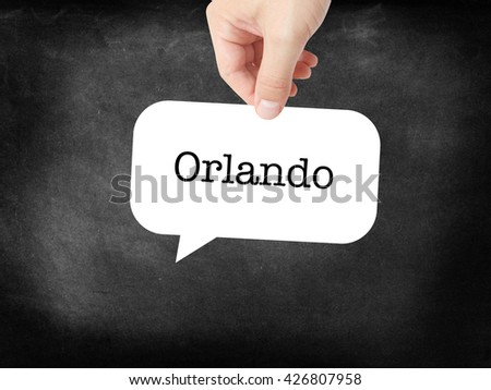 Orlando written on a speechbubble