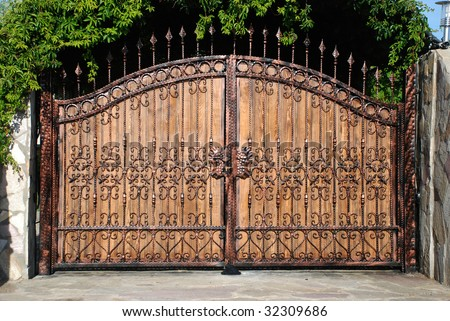 ornament forged big iron garden gate