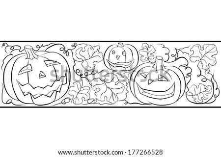 ornament from pumpkins - stock photo