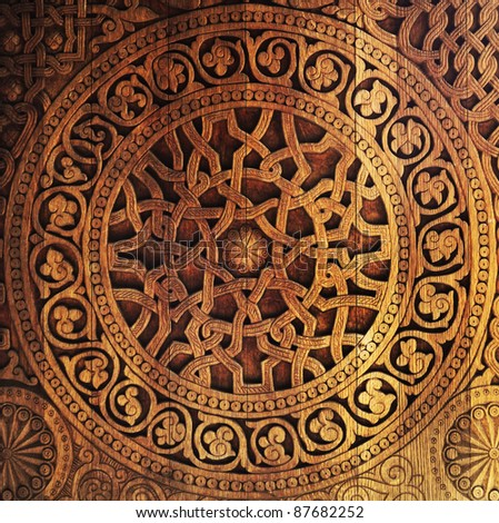 Ornament on wooden door & Wood Carving Stock Images Royalty-Free Images u0026 Vectors ... pezcame.com