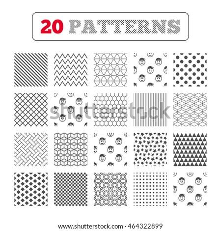 Ornament Patterns Diagonal Stripes Stars Rapper Stock Illustration
