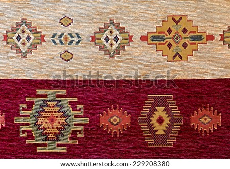 ornament turkish pattern rug background - stock photo