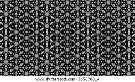 Ornament with black and gray patterns. Fantasy. g