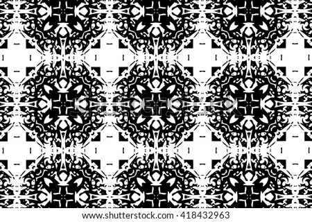Ornament with black and white patterns. E