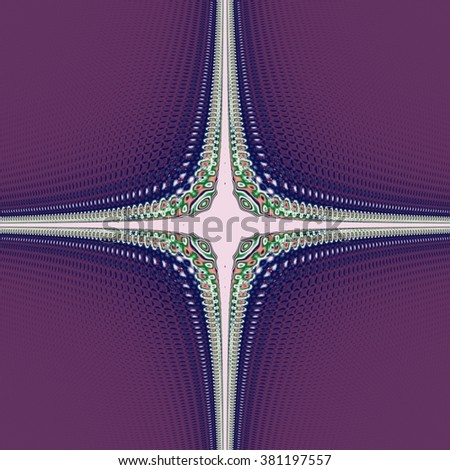 Ornamental fractal pattern wallpaper tile