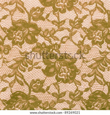 Ornamental green and salmon floral vintage background (low contrast)