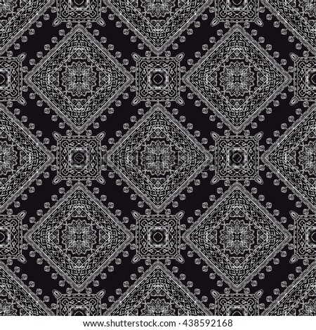 Ornamental paisley pattern, for textile, wrapping, bandanna - stock photo