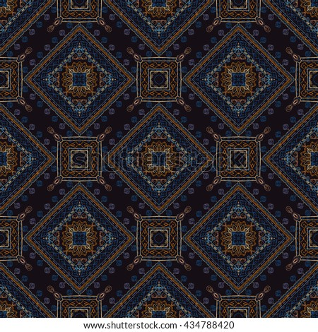 Ornamental paisley pattern, seamless decoration motif, for textile, wrapping, bandanna, fabric, wallpaper - stock photo