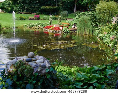 Stock images royalty free images vectors shutterstock for Ornamental garden ponds