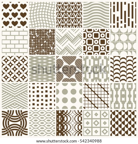 ornamental seamless backgrounds set, geometric patterns collection. Ornate textures made in modern simple style.