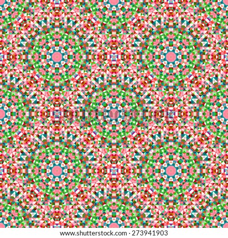 Ornamental Seamless Pattern. Abstract Geometrical Background