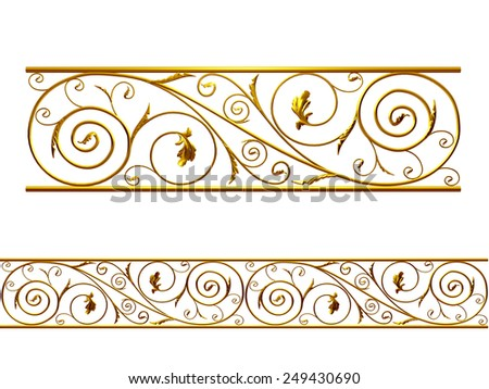 Ornamental Segment for a frieze, border or frame. This complements my ninety degree angle items for a circle or corner: Ornament 61. See Set -Decorative Ornaments- in my portfolio - stock photo