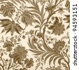 ornamental vintage  pattern - stock photo
