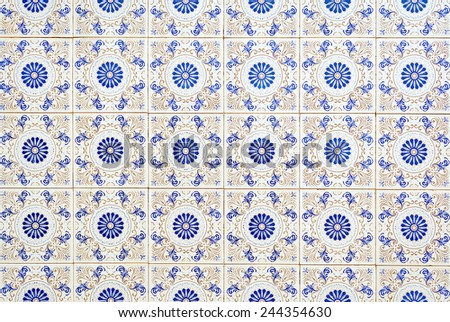 ornamented tiles texture background - stock photo