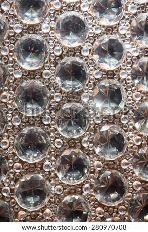 Ornate and Beautiful Cut Glass Bead Background - stock photo