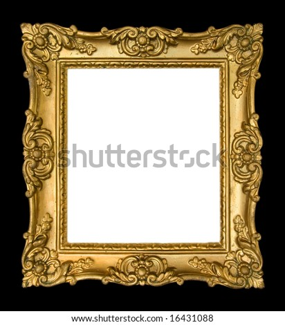 Ornate antique gold frame - stock photo