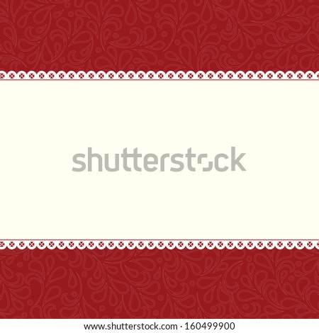 Ornate damask background. Perfect as invitation or announcement. - stock photo
