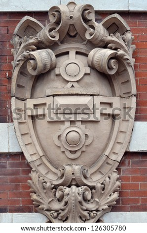 Ornate Decorated Medallion Architectural Detail - stock photo
