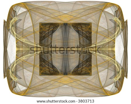 Ornate Designer Fractal Element for pattern, shape, or background