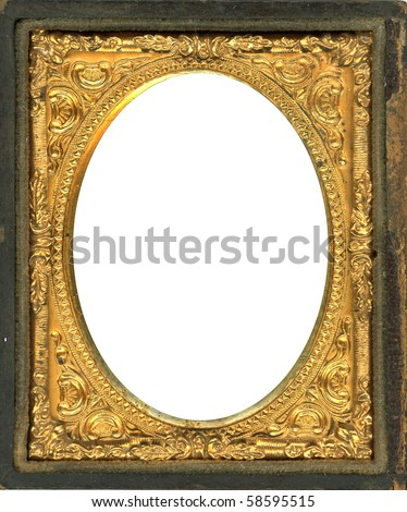 ornate gold metal picture frame from the 1850s this style frame was commonly used with