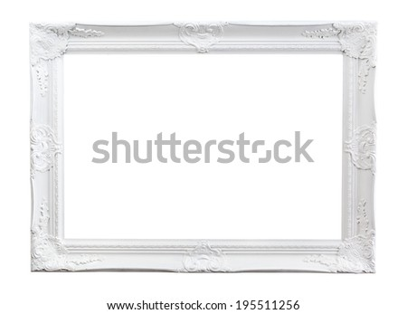 Ornate Painted Picture Frame Isolated On Stock Photo (Royalty Free ...