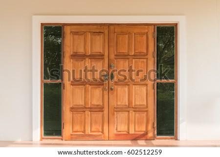 Ornate Wooden Teak Door Interior Stock Photo Edit Now 602512259