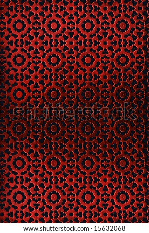 Ornated red metal background