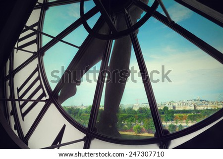 Orsay Museum clock - stock photo