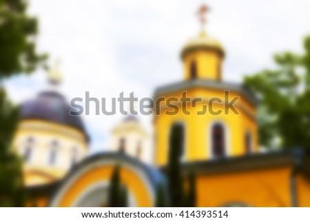 Orthodox Church, Belarus, Defocus - stock photo