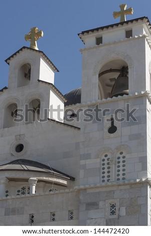 Orthodox church in Podgorica, Montenegro - stock photo