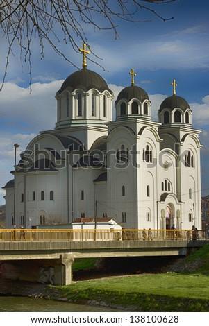Orthodox Church in Valjevo, Serbia - stock photo