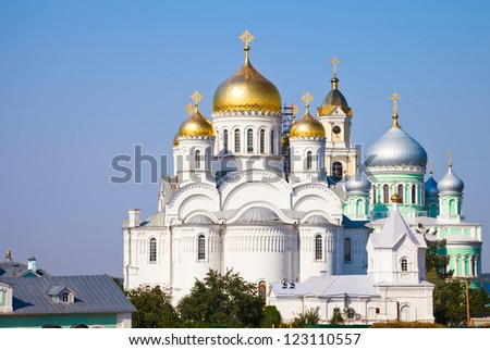 Orthodox church of a monastery in Diveevo, Russia
