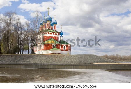 Orthodox church of prince Dmitriy on blood in historical town Uglich, Russia.