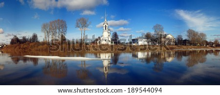 Orthodox Church, Spring Vologda, Russia - stock photo