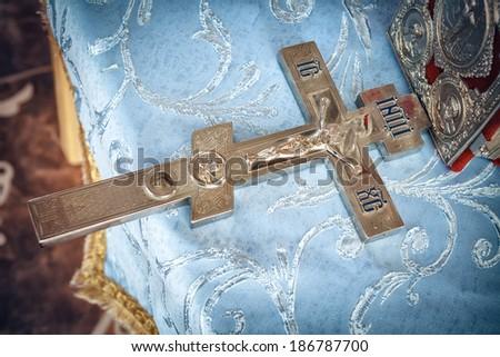 orthodox cross - stock photo