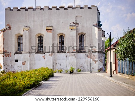 Orthodox Judaism synagogue in Szydlow, Poland. - stock photo