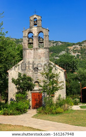 Orthodox Monastery and church in Budva  - stock photo