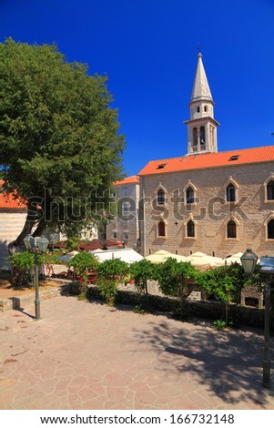 Orthodox monastery from the Mediterranean area - stock photo