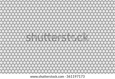 Orthographic View Hexagon Grid Texture Stock Illustration