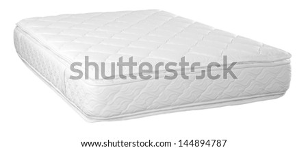 Orthopedic mattress. Isolated