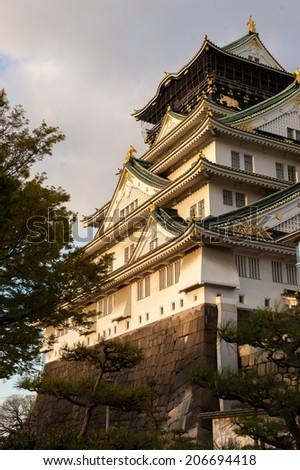 Osaka Castle Profile - stock photo