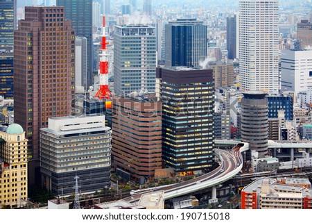 Osaka city - stock photo