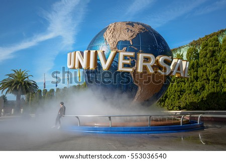 OSAKA, JAPAN : December 2, 2016 : The theme park attractions based on the film industry at Universal Studios Theme Park in Osaka, Japan