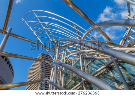 OSAKA, JAPAN - OCTOBER 28: The National Museum in Osaka, Japan on October 28, 2014. The museum originates from the Expo Art Gallery, built as part of Expo '70, held in Suita in the outskirts of Osaka