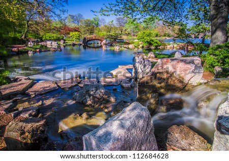 Osaka Japanese Garden Jackson Park Chicago - stock photo