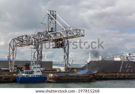 Osaka Port , Marine Cargo, - stock photo