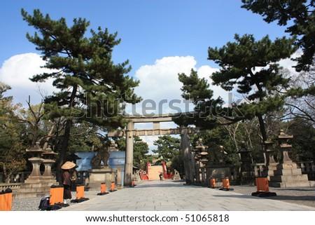 Osaka Torri Gate - stock photo