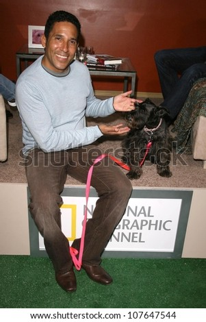 Oscar Nunez  at the party to celebrate the 100th Episode of 'Dog Whisperer'. Boulevard 3, Hollywood, CA. 09-17-08 - stock photo